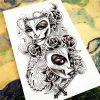 Nu-TATY Phantom of The Opera Temporary Tattoo Body Art Flash Tattoo Sticker 12*cm Waterproof Tatoo Styling Home Decor Sticker 2