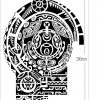 Large Temporary Tattoos Sticker Men Arm lelft Shoulder Fake Tattoo Body Art sticker For Guys Prothorax Twinset 3d Fake Taty 2