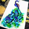 Nu-TATY Fantasy Peacock Temporary Tattoo Body Art Sleeve Arm Flash Tattoo Stickers 12*cm painless Henna selfie tattoo stickers 3